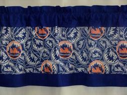 "New York Mets MLB Baseball Blue Valance Curtain Choose: 40"","