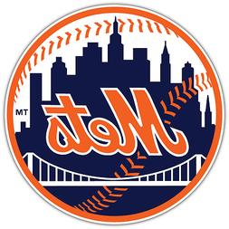 New York Mets MLB Baseball Car Bumper Window Sticker Decal 4