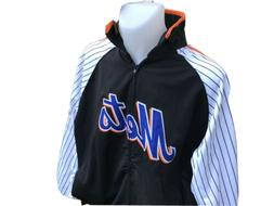 NEW YORK Mets MLB BASEBALL Majestic Stitches Jacket embroide