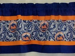"New York Mets MLB Baseball Orange Custom Valance Choose:40"","
