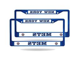 New York Mets MLB Blue  Painted Chrome Metal License Plate F