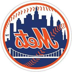 New York Mets MLB Color Vinyl Decal / Sticker - You Choose S