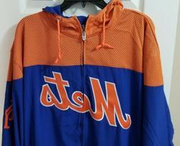 New York Mets Majestic MLB Full Zipper Light Weight Hoodie B