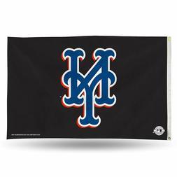 New York Mets MLB Helmet Rico 3x5 Flag w/Grommets Outdoor Ba