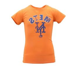 New York Mets MLB Adidas Kids Youth Girls Size Distressed T-
