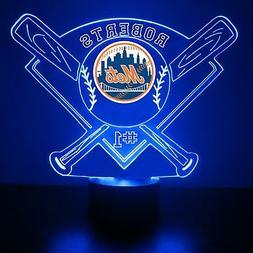 New York Mets Night Light, Personalized FREE, MLB Baseball L