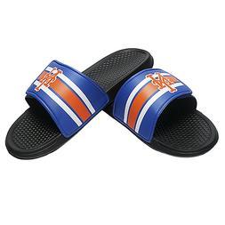 New York Mets MLB Men's Stripe Legacy Sport Slide Flip Flop,