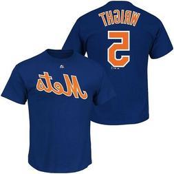New York Mets MLB Mens Majestic David Wright Player Shirt Ro
