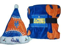 "NEW YORK METS MLB NEW THROW BLANKET 50""x60"" 100% POLYESTER A"