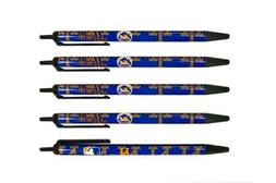 New York Mets MLB Pens Click Style 5 Pack Black Ink