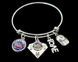 New York Mets MLB Premium Quality Baseball Team Logo Charm B
