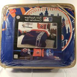 New York Mets MLB Soft & Cozy 2 Piece Twin Bed Comforter Set