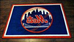 New York Mets MLB Team Spirit Area Rug Milliken 6'x4'