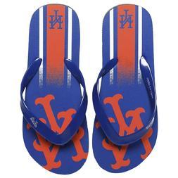 New York Mets MLB Unisex Gradient Flip Flops, 5 Sizes, FREE