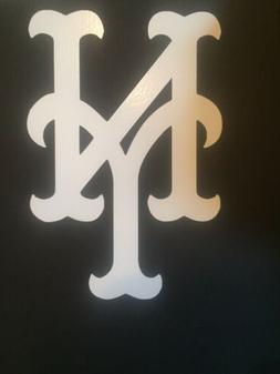 new york mets mlb white vinyl sticker