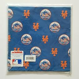 New York Mets MLB Wrapping Paper 4 Sheets 20x30 FanWrap NEW