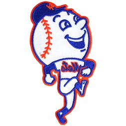 New York Mets Mr. Met Skipping Logo Team Mascot MLB Jersey S