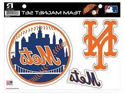 New York Mets Multi Die Cut Magnet Sheet Set Heavy Duty Auto