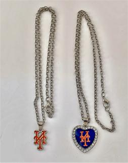 New York Mets Necklaces--Two Different