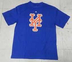 """New York Mets """"NY"""" Men's Blue Majestic T-shirt NWT"""