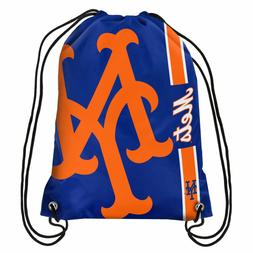New York Mets NY MLB Big Logo Side Stripe Drawstring Backpac