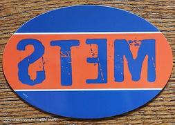 New York Mets Oval Car Magnet Made In The USA Baseball Sport