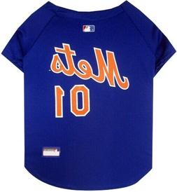 """New York Mets Pet Jersey; X-Large 16"""" - 20"""" Neck; MLB Offici"""