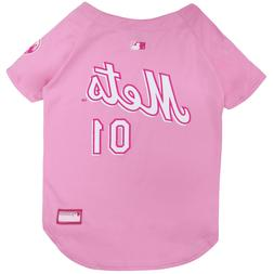 Pets First New York Mets Pet Pink Jersey