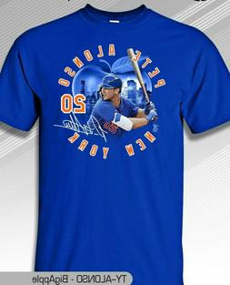 New York Mets MLBPA PETE ALONSO #20 BIG APPLE Adult Men's Te