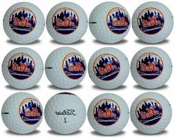 New York Mets Titleist ProV1 Refinished MLB Golf Balls 12 pa