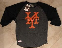 New York Mets Raglan 3/4 Sleeve Cooperstown T-shirt Mitchell