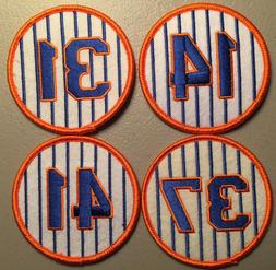 NEW YORK METS RETIRED JERSEY NUMBER 4 PATCH SET - SEAVER HOD