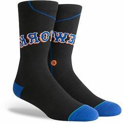 New York Mets Stance Retro Road Jersey Socks - Black
