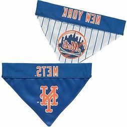 New York Mets Reversible Bandana Pet Collar - Royal/White