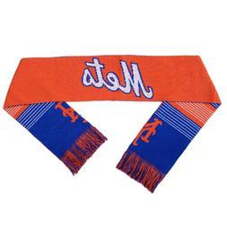 New York Mets Reversible Scarf Knit Winter Neck NEW - Split