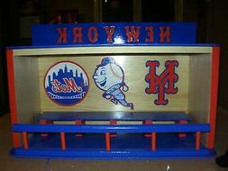 New York Mets Royal Blue bobble head display case in color w