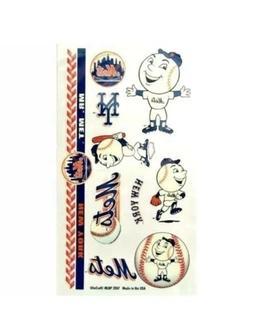 New York Mets Sheet of 10 Temporary Tattoos Sheet ~ MLB Winc