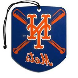 New York Mets Shield Design Air Freshener 2 Pack  MLB Fresh