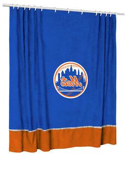 New York Mets Shower Curtain 72 x 72 Micro Suede MLB Basebal