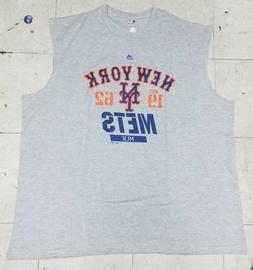 New York Mets Sleeveless Men's Majestic Gray T-shirt NWT