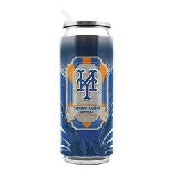 New York Mets Stainless Steel Thermo Can - 16.9 ounces Trave