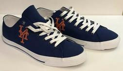 New York Mets MLB Team Apparel Row One Canvas Sneaker Unisex