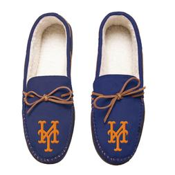 New York Mets Team Color MLB Men's Moccasins Slippers FREE S
