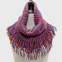 New York Mets Themed Royal Blue and  Orange Tubular  Scarf W