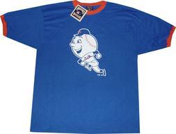 New York Mets Majestic Throwback Ringer Blue 1969 T Shirt NE
