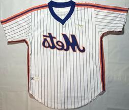 New York Mets Throwback Vintage Jersey Shirt White Pinstripe