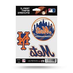 New York Mets Triple Sticker Multi Decal Spirit Sheet Auto H
