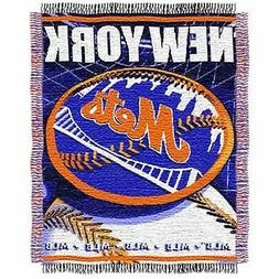 New York Mets Triple Woven Jacquard Blanket / Throw