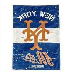 New York Mets Vintage Retro Premium 2-Sided Garden Flag Outd