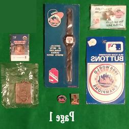 New York Mets VINTAGE Ring Pins Pinback Buttons or Various O